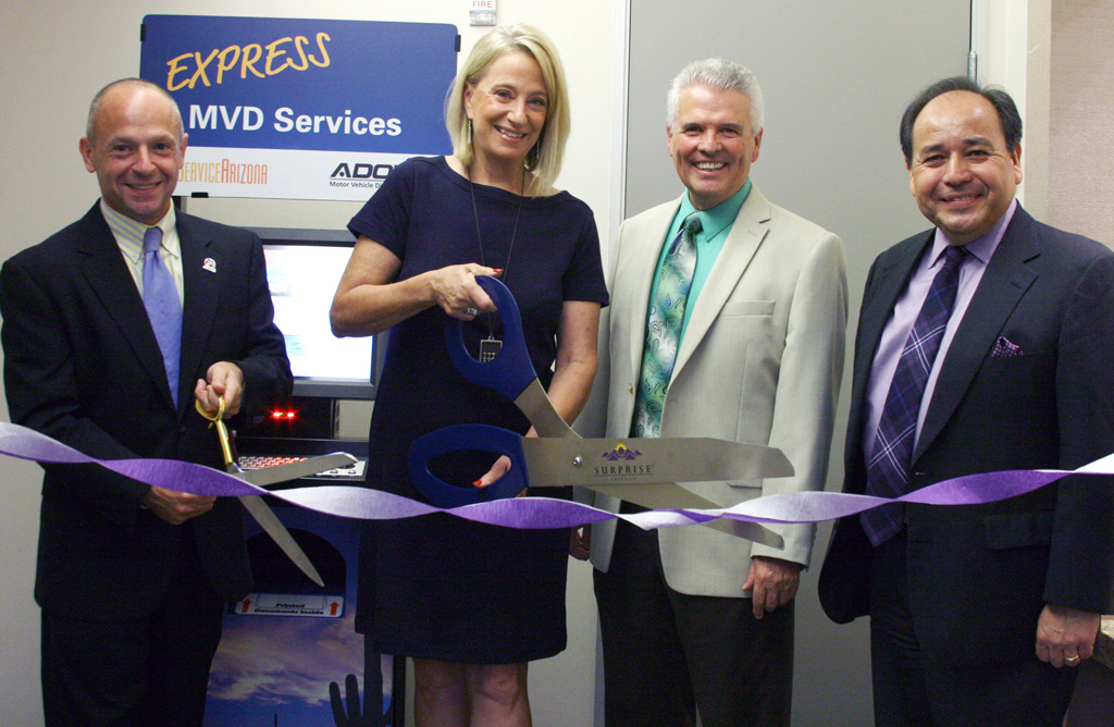 MVD Kiosk Ribbon Cutting