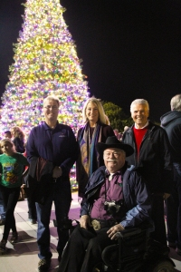 Surprise City Council member light tree for the holidays