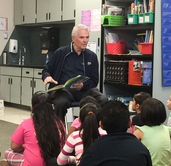 Councilman Hall reads to first and third graders at Thompson Ranch Elementary School on Monday, March 7